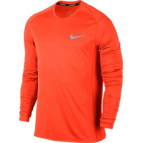 Nike Dry Miler Løbetrøje langærmet Herrer orange
